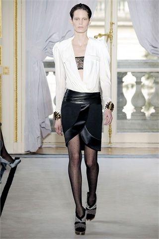 balenciaga moda donna spezzato bianco e nero