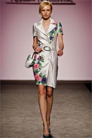 renato balestra moda donna impermeabile a fiori