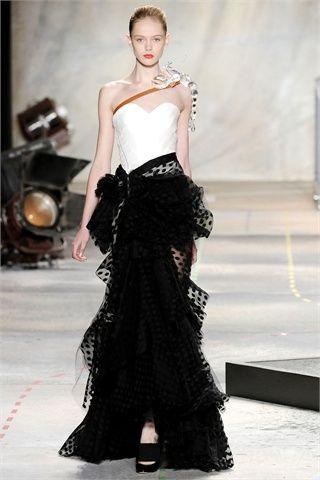 abito da sera bianco e nero by isaac mizrahi
