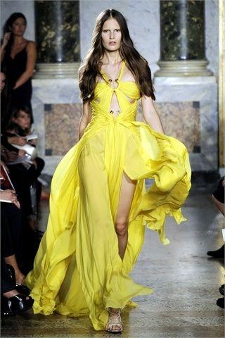 abito da sera lungo giallo emilio pucci
