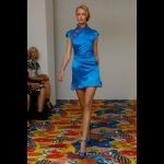 Vestitino corto blu Alberta Ferretti estate 2011