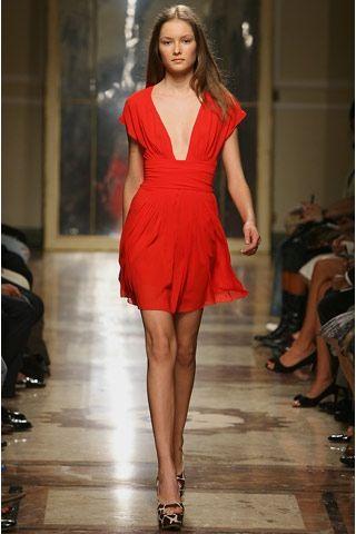 mini abito rosso da sera borbonese 2007